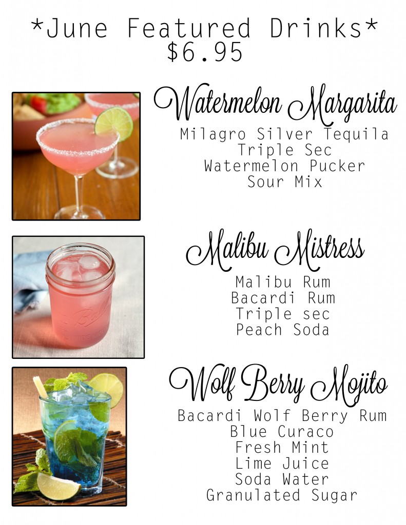 June Featured Drinks